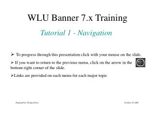 WLU Banner 7.x Training