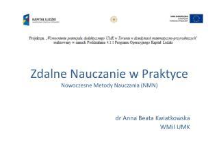 Zdalne Nauczanie w Praktyce Nowoczesne Metody Nauczania (NMN)