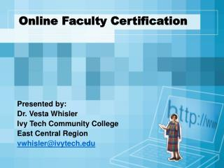 Online Faculty Certification