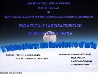 UNIVERSITA' DEGLI STUDI DI PALERMO MASTER II LIVELLO  IN