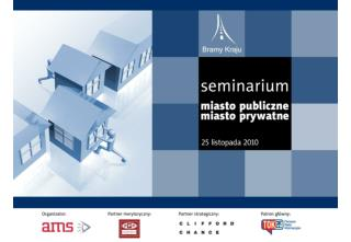 MIASTO PUBLICZNE – MIASTO PRYWATNE Partnerstwo Publiczno-Prywatne w perspektywie lat 2010-2015