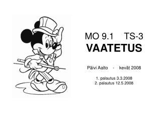 MO 9.1    TS-3 VAATETUS Päivi Aalto    -    kevät 2008 1. palautus 3.3.2008 2. palautus 12.5.2008