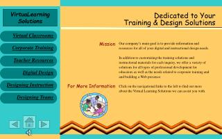 Dedicated to Your Training & Design Solutions