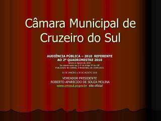 Câmara Municipal de  Cruzeiro do Sul