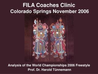 FILA Coaches Clinic  Colorado Springs November 2006