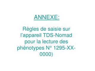 ANNEXE:
