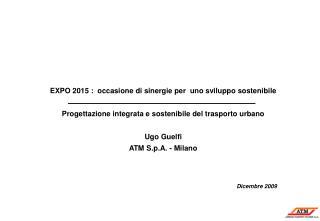 EXPO 2015 :  occasione di sinergie per  uno sviluppo sostenibile