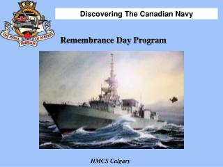 Remembrance Day Program