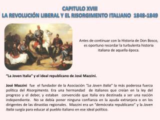 CAPITULO XVIII LA  REVOLUCIÓN LIBERAL  Y EL  RISORGIMENTO ITALIANO  1848-1849
