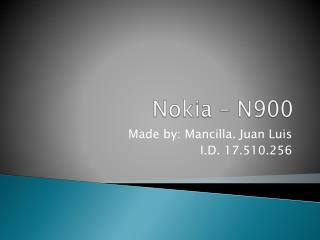 Nokia – N900