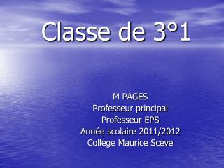 Classe de 3°1