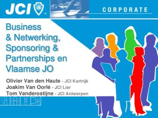 Business & Netwerking, Sponsoring & Partnerships en Vlaamse JO