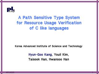A Path Sensitive Type System  for Resource Usage Verification  of C like languages