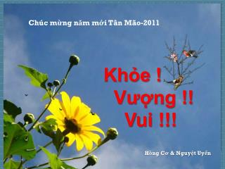 Chúc mừng năm mới Tân Mão-2011