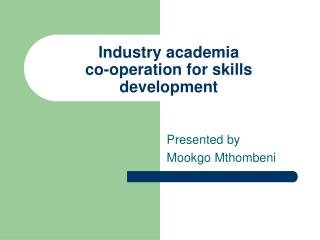 Industry academia   co-operation for skills development