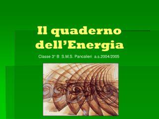 Il quaderno dell�Energia