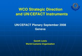 WCO Strategic Direction