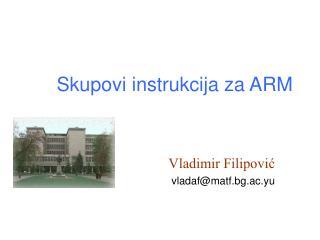 Skupovi instrukcija za ARM
