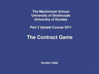 The Contract Game