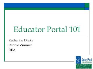 Educator Portal 101