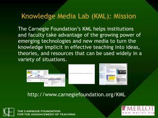 Knowledge Media Lab (KML): Mission
