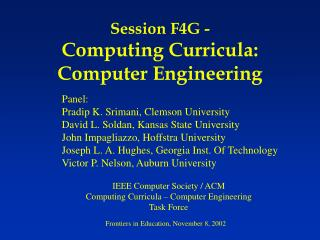 Session F4G - Computing Curricula: Computer Engineering