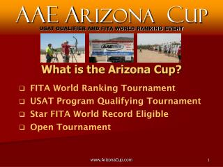FITA World Ranking Tournament  USAT Program Qualifying Tournament  Star FITA World Record Eligible