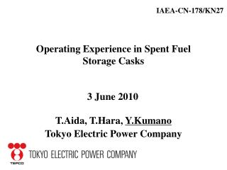 Operating Experience in Spent Fuel Storage Casks