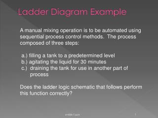 Ladder Diagram Example