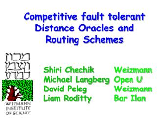 Competitive fault tolerant Distance Oracles and Routing Schemes