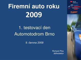 Firemní auto roku  2009