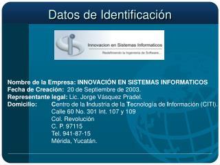 Datos de Identificación