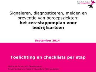 Toelichting en checklists per stap