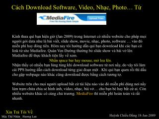 Cách Download Software, Video, Nhạc, Photo… Từ