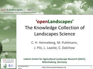 'open Landscapes' The Knowledge Collection of Landscapes Science