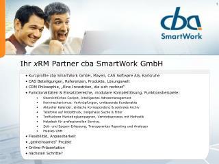 Ihr  x RM Partner cba SmartWork GmbH