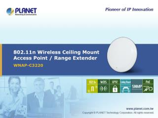 802.11n Wireless Ceiling Mount Access Point / Range Extender