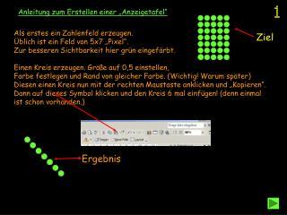 """Anleitung zum Erstellen einer """"Anzeigetafel"""""""