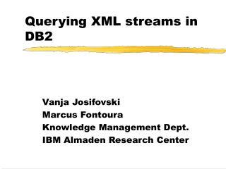 Querying XML streams in DB2