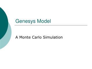 Genesys Model