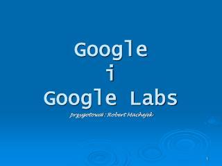 Google i  Google Labs