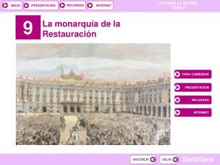 La monarquía de la Restauración