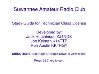 Suwannee Amateur Radio Club