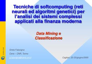 Data Mining e Classificazione