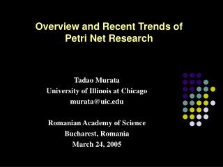 Overview and Recent Trends of  Petri Net Research
