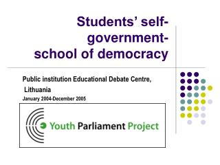 Students' self-government-  school of democracy