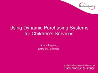 Using Dynamic Purchasing Systems for Children's Services