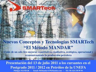 """Nuevos Conceptos y Tecnologías SMARTech """"El Método MANDAR"""""""