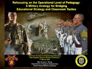 Refocusing on the Operational Level of Pedagogy: A Military Analogy for Bridging  Educational Strategy and Classroom Tac