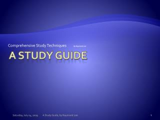 A Study Guide